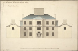 Mr Holland's House in Sloane Street North Elevation